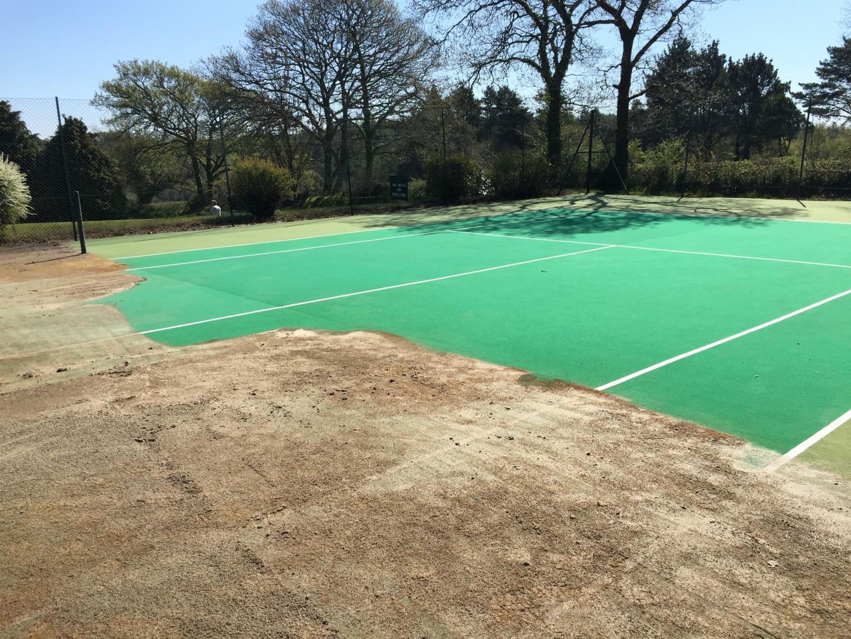 St. Mellion International Resort Tennis Court Restoration - Case Study
