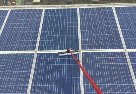 Commercial and Industrial Solar Panel Cleaning Example