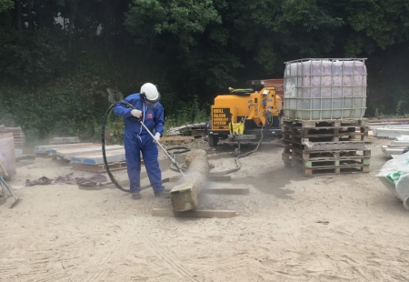 Dustless Grit Blasting South West Example